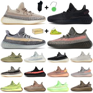Wholesale mens desert shoes for sale - Group buy kanye men women running shoes Ash Blue Pearl Stone Carbon Cinder Static black Desert Sage Earth Sulfur Cream mens trainers sneaker with box