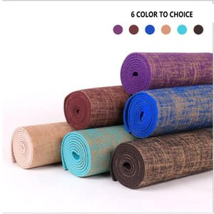 Wholesale yoga mat colors for sale - Group buy Yoga Mats Linen Summer mm Anti slip Gymnastics Exercise Gym Mat For Fitness Pvc Pilates Workout CM Colors