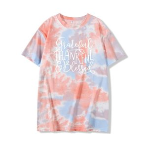 Wholesale tie dye patterns for sale - Group buy Personality Print Letter Pattern Tops Tees T shirts Japan Korean Summer Tie Dye Women Fashion Streetwear Student Harajuku Style Female