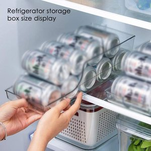 Wholesale soda cans resale online - Refrigerator Organizer Bins Soda Can Dispenser Beverage Transparent Holder For Fridge Freezer Kitchen Storage Container Cabinets Bottles J