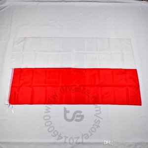 Wholesale polish flags resale online - Poland Polish banner national flag Free ship x5 FT cm Hanging National flag Poland Polish Home Decoration flag banner