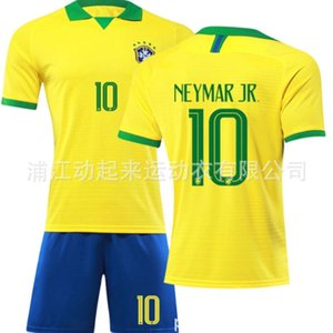 Wholesale brazil new jersey for sale - Group buy New Brazil Jersey national team uniform football suit custom made home for children and adults