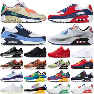 Wholesale shoes cool resale online - 90 running shoes s mens women platform sneakers USA Camo Triple Black UNC Cool Grey Trail Vibes Bred outdoor men womens sport trainers