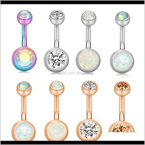 Wholesale drop ear rings resale online - Bell Drop Delivery Stainless Steel Belly Piercing Kit Screw Navel Button Rings Tragus Ear Bar Cartilage Earring Body Jewelry G