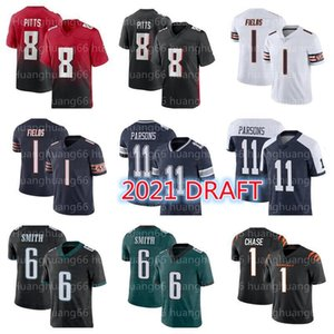 ingrosso cowboys calcio-Uomini Justin Fields Micah Parsons Jersey di calcio Chicago