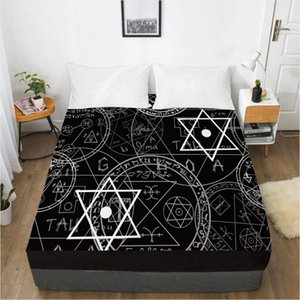 Wholesale kind bedding set resale online - Printed All Kinds Of Magic Array Soft Fitted Sheet With Elastic Band Solid Bed Cover Wrinkle Abrasion Resistant Sheets Sets