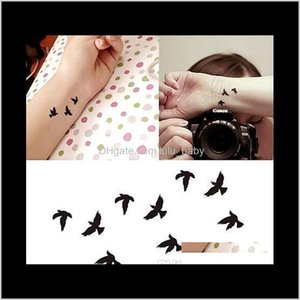 Wholesale fake wrist tattoos resale online - 105X6Cm Women Sexy Finger Wrist Flash Fake Tattoo Stickers Liberty Small Birds Fly Waterproof Sticker Goqw5 Oy1Jg