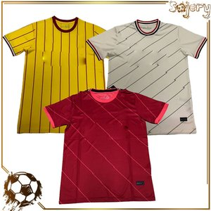 Wholesale thailand yellow shirts for sale - Group buy 20 Soccer Jersey Top Thai Fans Football Shirts Thailand Club Team Training uniforms Home Red Away yellow Shirt Player version