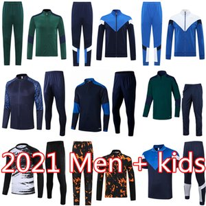 Wholesale italy soccer tracksuit resale online - 2021 italy training suit Survetement football BELOTTI short sleeve Polo shirt BUFFON VERRATTI jacket kits DE ROSSI soccer tracksuit chandal