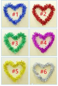 Wholesale weddings venues resale online - Christmas color strips wedding garland wreaths holiday decoration Marriage roomroom ribbons kindergarten dance venue layout