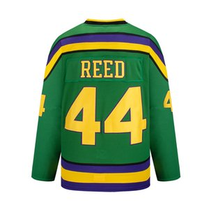 Wholesale throwback mighty duck jerseys for sale - Group buy mighty ducks hockey movie throwback jersey reed Sweatshirts green white custom Sports Outdoor multi color fast embroidered pucks stitched