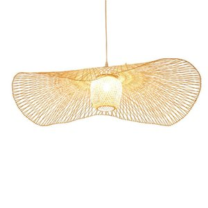 Wholesale chinese ceiling lamps for sale - Group buy Chinese Bamboo Weaving Wicker Rattan Shade Cap Ceiling Light E27 Lamps Lanterns Living Room El Restaurant Aisle Lamp Pendant