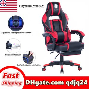 Wholesale computers chairs resale online - High chair furniture grade office product swivel computer desk backrest adjustable height play stool Shipment in US warehouse
