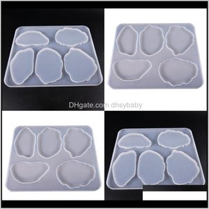 Wholesale epoxy resin table for sale - Group buy Baking Moulds Bakeware Kitchen Dining Bar Home Garden Drop Delivery Hand Made Table Decoration Mold Diy Epoxy Resin Sile Irregular Sh