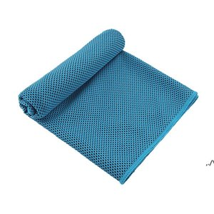 Wholesale yoga for face for sale - Group buy Sport Cooling Towel Microfiber Instant Cool Ice Face Towels for Gym Swimming Yoga Running x100cm Quick dry with Silicone Case DWF6515