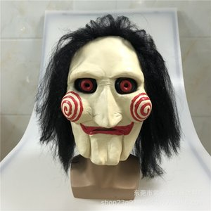Wholesale saw puppet resale online - Movie Saw Chainsaw Massacre Jigsaw Puppet Masks with Wig Hair Latex Creepy Halloween Horror Scary mask Unisex Party Cosplay Prop