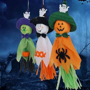 Wholesale outdoor halloween decorations resale online - Halloween Pumpkin Ghost Hanging Decoration Indoor Outdoor Specter Party Ornament Pendant Props Halloween Event Party Decor DBC BH3961