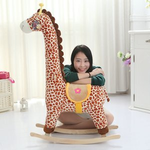 Wholesale babies rocking horse for sale - Group buy Children s Trojan horse giraffe rocking chair toy plush cartoon Rocking Horse Boy Girl Baby Gift3AUN
