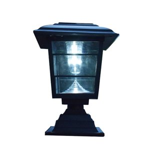 Wholesale solar light posts resale online - Solar Post Cap Lawn Lamp Outdoor Garden LED Waterproof Decorative Wall Light White
