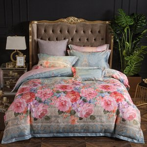 Wholesale floral king pillowcases for sale - Group buy Floral cotton queen king bedding sheet duvet cover bed set pillowcase ropa juego cama linge de lit