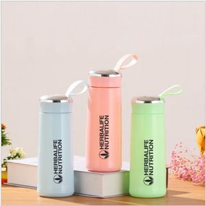 Wholesale shake bottles resale online - Herbalife Nutrition Milk Shake Protein Creative Water Bottle ml Plastic Glass Double Insulation Shake Bottle Various Colors