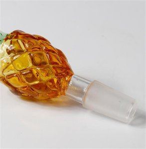 Wholesale golden bowl resale online - New mm mm Male Glass Bong Bowl with Thick Pyrex Colorful Golden Pineapple Smoking Glass Bowls Water Pipes for Dab Rigs V2