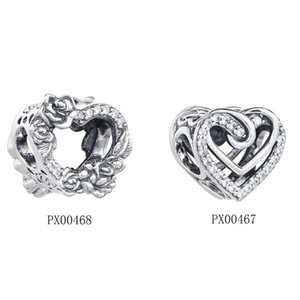 Wholesale 925 sterling silver pandora charms for sale - Group buy Fit Original Pandora Charms Bracelet Sterling Silver Sparkling Entwined Hearts Charm Beads Women DIY Jewelry Making Berloque Q2