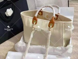 Wholesale design hand bags for sale - Group buy luxury women large capacityCanvas beach shopping bags Pearl design Hand bill of lading shoulder stylish Plain mommy bag