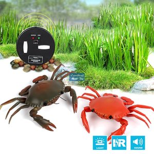 Wholesale crab toys resale online - Wireless Infrared Remote Control Crab Electric Kid Toy RC Animals Prank Joke Trickery Creative Christmas Birthday Boy Gift USEU