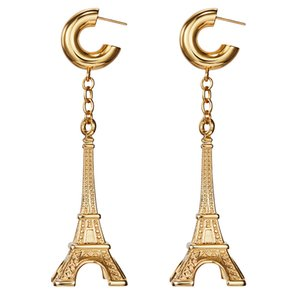 Wholesale eiffel earrings resale online - New fashion Eiffel Tower special commemorative Earrings women s Retro long earring
