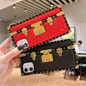 Wholesale shows case for sale - Group buy Luxury designer show box Square bag lambskin phone cases for iPhone Pro X Xr Xs Max Mini Plus SE