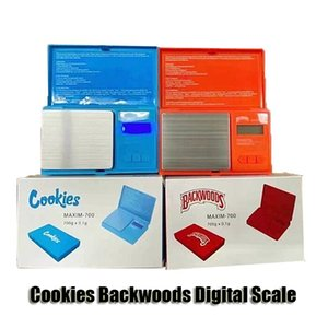 Cookies Backwoods Digital Scale Red Blue Accurate 700g 0.1g Jewelry Gold Tobacco Stash Weight Vapes Measurement Device Flip Style Measure Kit