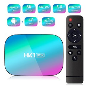 буровое долото оптовых-Android TV Box HK1 Box GB RAM GB ROM S905X3 BIT Quad Core G G Двухдиапазонная Wi Fi Smart TV Box D Ultra HD K K H
