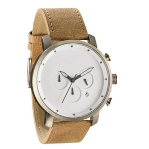 Wholesale pin eyes for sale - Group buy men s Waterproof fashion watch three frosted leather eyes true pin MV