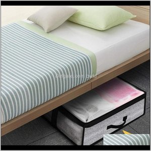 Wholesale bedding sets boxing resale online - Housekeeping Organization Home Garden2Pcs Set Foldable Under Bed Bags Large Storage Boxes Thick Breathable Underbed Clothes Zippered Organi