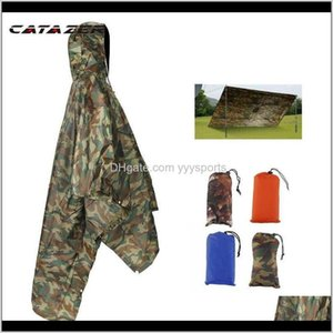 Wholesale air cape resale online - And Sports Outdoors Drop Delivery Outdoor Raincoat Backpack Cover Poncho Rain Cape Hiking Camping Jackets Unisex Gear Pads Q1Olp