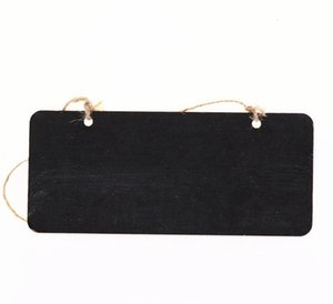Wholesale wooden message board resale online - Hanging Wooden Mini Blackboard Double Sided Erasable Chalkboard Wordpad Message Sign Black Board Cafe Office School Supplies DBC BH4583