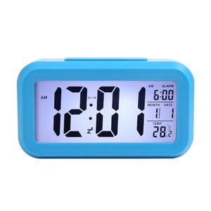 Wholesale calendar changes for sale - Group buy Smart Sensor Nightlight Digital Alarm Clock with Temperature Thermometer Calendar Silent Desk Table Clock Bedside Wake Up Snooze GWE5906