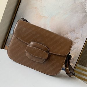 Wholesale adjustable compartment boxes resale online - 2021 women purse saddle horsebit bag with SN Box brown cowhide Genuine Real Leather adjustable shoulder strap crossbody top A quality fashion bags