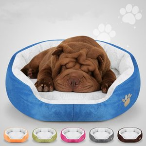 Wholesale pug cushions for sale - Group buy Kennels Pens Soft Plush Winter Dog Bed Round Cat Warm Puppy Cushion Chihuahua Teddy Small Dogs House Pet For Katten Pug