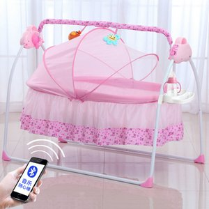 Wholesale baby electric for sale - Group buy Baby Cribs Auto Swing Bed Electric born Cradle Sleeping Rocker Rocking Chair With Music Folding Bassinet babys wippe elektrisch