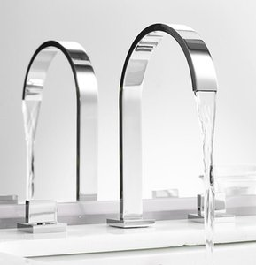 Wholesale install chrome for sale - Group buy Chrome Brass Basin Faucet quot Wide Spread Install Bathroom Set Bathtub Mixer Tap G4254 Shower Sets