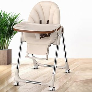 Wholesale portable high chairs resale online - Environmentally friendly Folding Portable baby seat baby dinner table multifunction adjustable children learning chairs