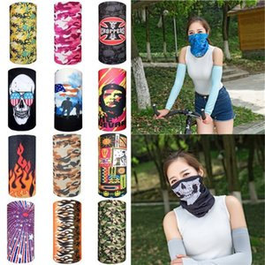 Wholesale pirate half mask resale online - Bike Motorcycle Helmet Face Mask Half Cs Ski Headwear Neck Cycling Pirate Headband Hat Cap Halloween Magic Scarve T1i2326