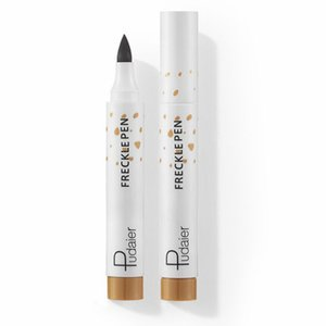 Wholesale brown skin spots resale online - Natural Freckle Pen concealer Soft Brown Long Lasting Waterproof Dot Spot Pencil Create Sunkissed Face Makeup Easy Point Artificial Freckles