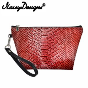 Wholesale alligator organizer bag for sale - Group buy Noisydesigns D Alligator Print Cosmetic Bag Ladies Makeup Travel Organizers Bags For Women Girls Make Up Case Toiletry Cases
