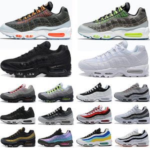 Wholesale red bowls resale online - 95 Running Shoes Triple Black White Laser Purple Aqua Neon Solar Red s Mens Womens Trainers Sports Sneakers Chaussures