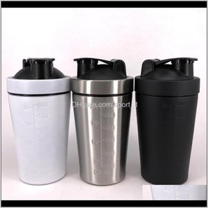 Wholesale shake bottles for sale - Group buy Bottles Drinkware Kitchen Dining Bar Home Garden Drop Delivery Stainless Steel Shake Single Layer Fitness Mixing Shaker Cup Noninsulatio
