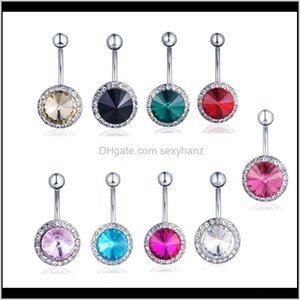 Wholesale bell flowers resale online - Bell Drop Delivery D0732 Colors Flower Dangle Belly Button Piercing Navel Rings Stainless Steel Bars Body Jewelry Xnae