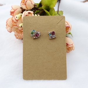 Wholesale price tags for sale - Group buy 6 cm Jewelry Display Card Price Tag Kraft Paper Earring Holder Necklace Cards Can Custom Logo W2